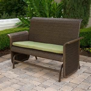 modern wicker loveseat glider bench patio furniture