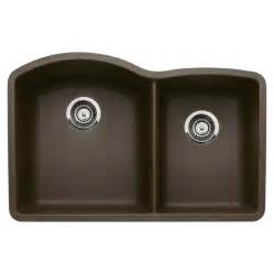 Blanco Kitchen Sink Reviews Shop Blanco 20 843 In X 32 In Cafe Brown Basin Granite Undermount Kitchen Sink At