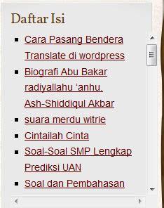 membuat daftar isi wordpress tanpa plugin cara membuat daftar isi wordpress tanpa plugin geojati