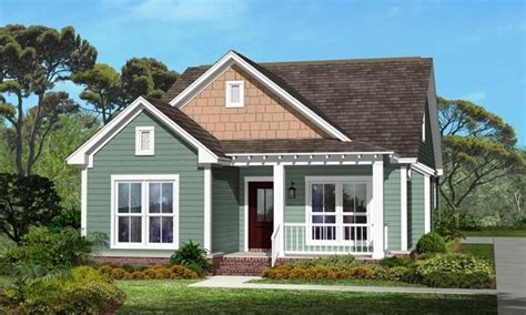 Small House With Ranch Style Porch Small House Plans Craftsman Bungalow Small