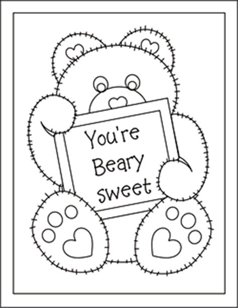 Thinking Of You Card Printable Coloring Pages Coloring Pages Card Templates To Color