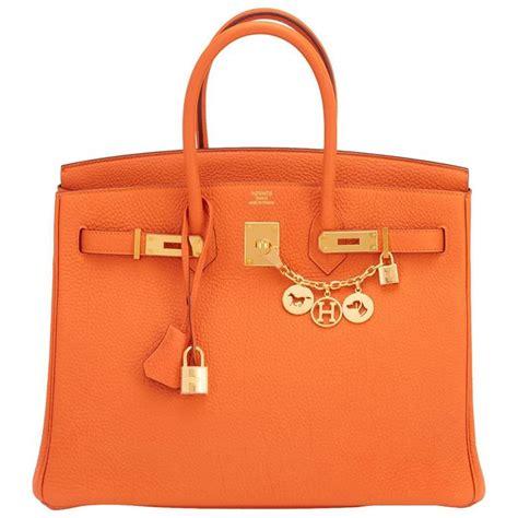 Classic Bag Hermes Birkin by Hermes Classic Orange 35cm Birkin Bag Gold Hardware