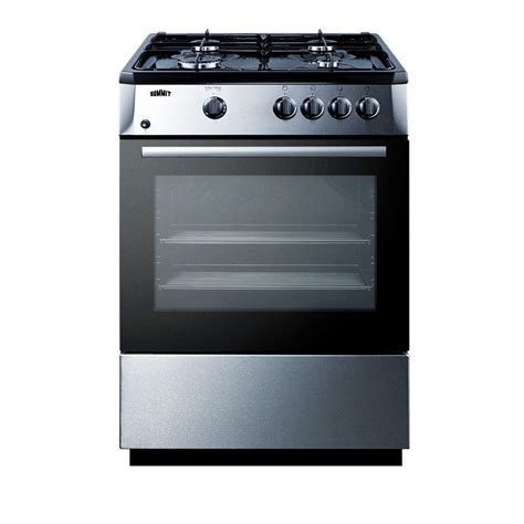Oven Gas Stainless Steel summit appliance 24 in 2 7 cu ft slide in gas range in