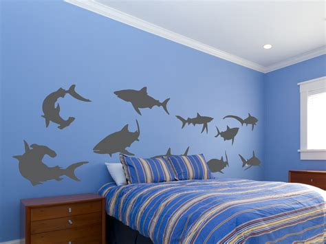 shark wall decals create a mural shark wall