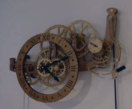 cnc project excellent wooden clock built  david westly