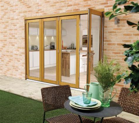 10 Ft Sliding Patio Door 3000mm 10ft 4 Door 3 1 Pattern Lpd Nuvu Oak Folding Patio Doors Prefinished