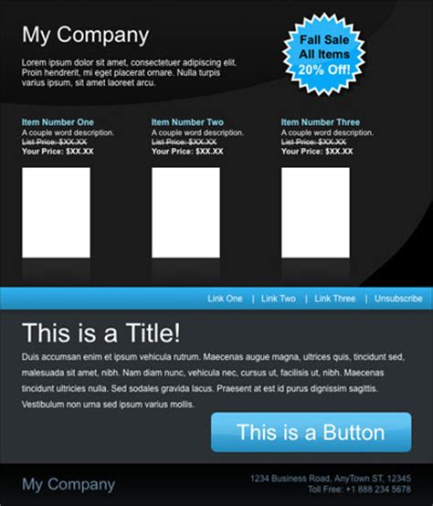 free html email template 70 best html email newsletter templates