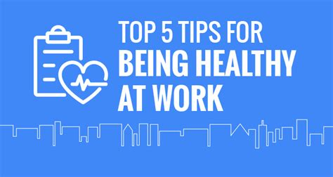 top 5 tips for working out with no time to be found top five tips for being healthy at work esub