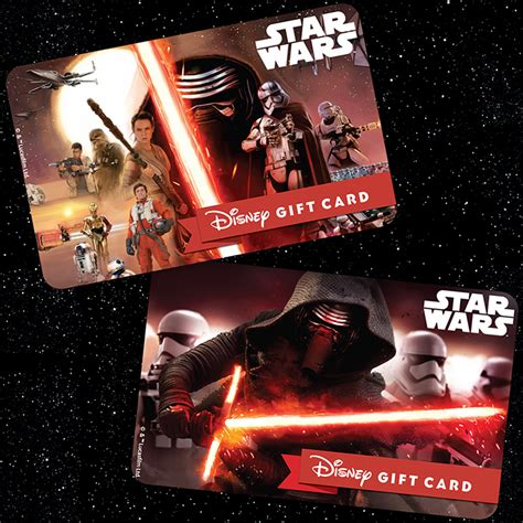 Star Wars Gift Cards - feel the force with new star wars the force awakens disney gift card designs 171 disney parks blog