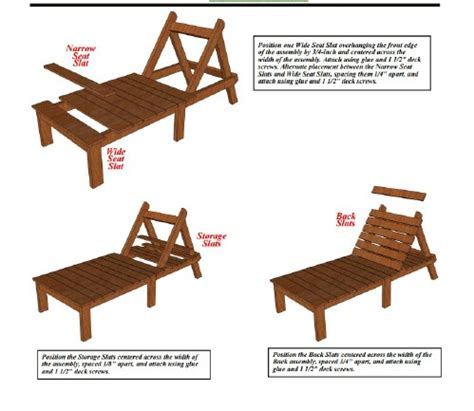 build a chaise lounge blueprints 5 sunbathing loungers you can diy free plans
