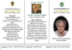 prayer cards for funerals personalized memorial funeral or sympathy prayer cards