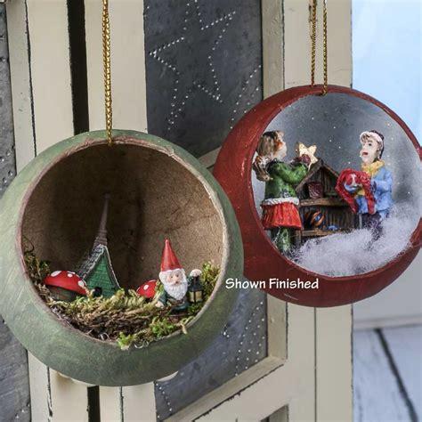 paper mache open ball ornaments christmas ornaments