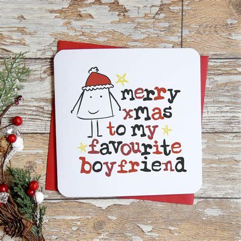 merry christmas   favourite boyfriend xmas card  parsy card  notonthehighstreetcom