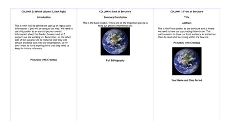 Science Brochure Template Copy Of Google Docs Reeviewer Co Science Brochure Template