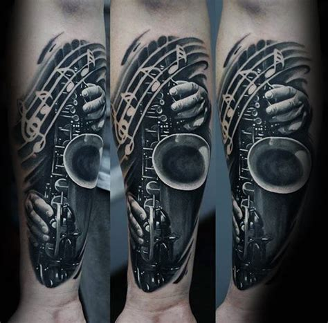 50 saxophone tattoo designs for men jazz inspired ink ideas