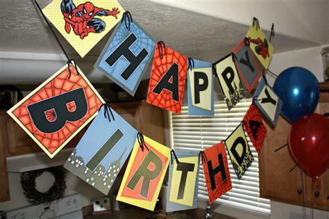free printable happy birthday spiderman banner spiderman vintage happy birthday party banner printable diy