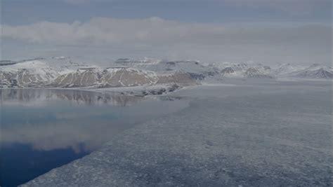 polar frozen tundra stunning view of the polar tundra steep mountain are looking a frozen