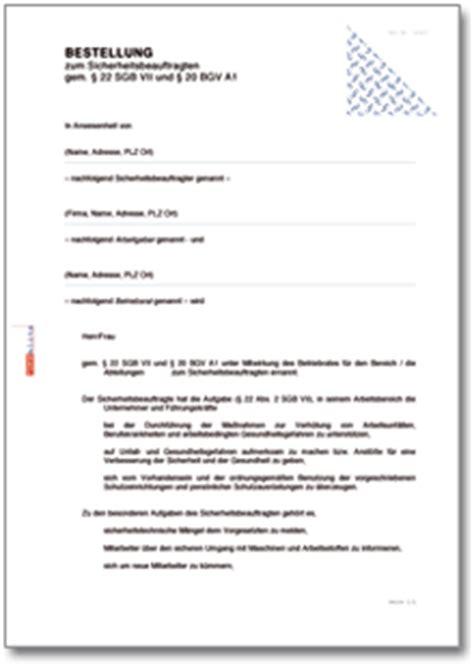 Bestellung Musterbrief Vorlage Dehoga Shop Bestellung Zum Sicherheitsbeauftragten Kaufen