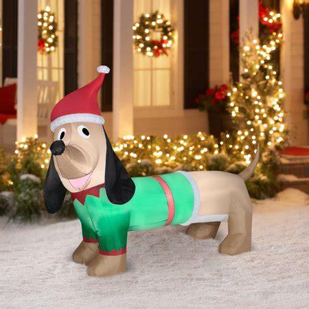 christmas yard blowups airblown 5 dachshund prop walmart