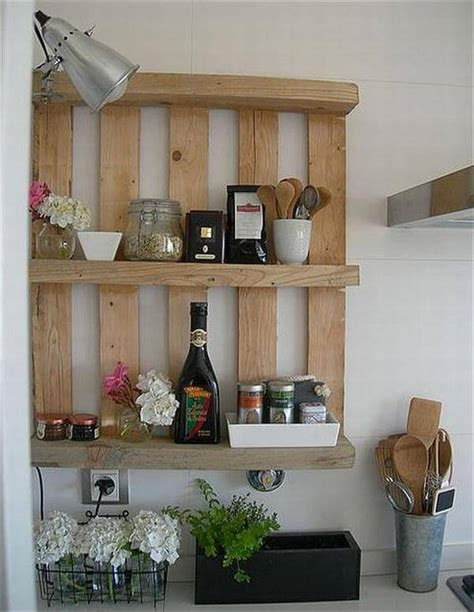 diy kitchen shelves 12 diy wooden shelves made from pallets pallet furniture diy