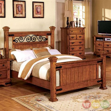 with its metal and wood design the sonoma bedroom set