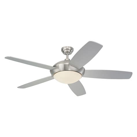 Ceiling Fan With Remote Included by Shop Monte Carlo Fan Company Sleek 52 In Brushed Steel