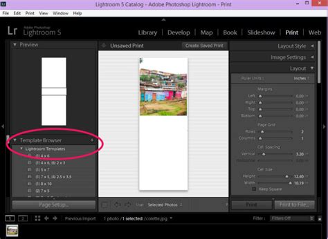 How To Install And Use Lightroom Templates Jellibean Journals Lightroom Print Templates