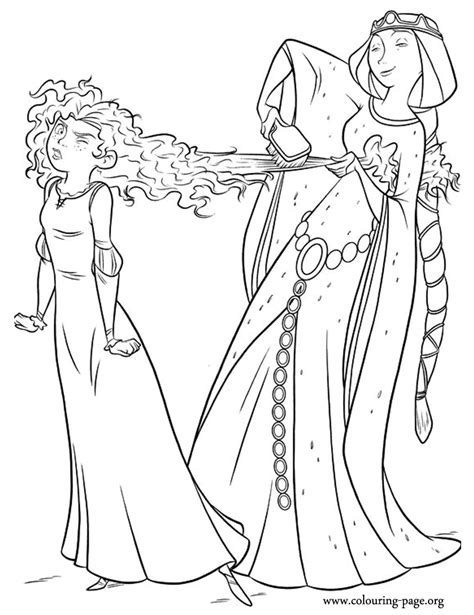 princess merida coloring page looks like merida is unhappy with elinor s intention of