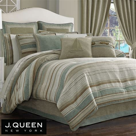 striped comforters newport stripe comforter bedding by j queen new york