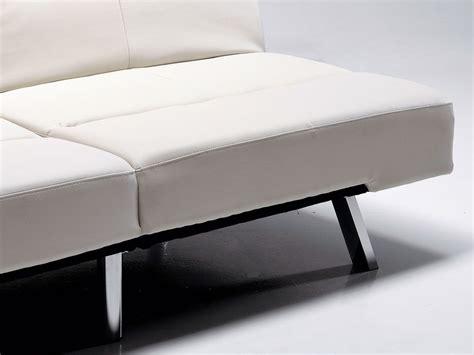 divani letto in ecopelle divano letto olmedo in ecopelle bianco o nero 175 cm