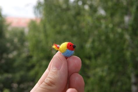 Decorate Shelves by Super Tiny Colourful Tropical Bird Ideal For Doll Houses