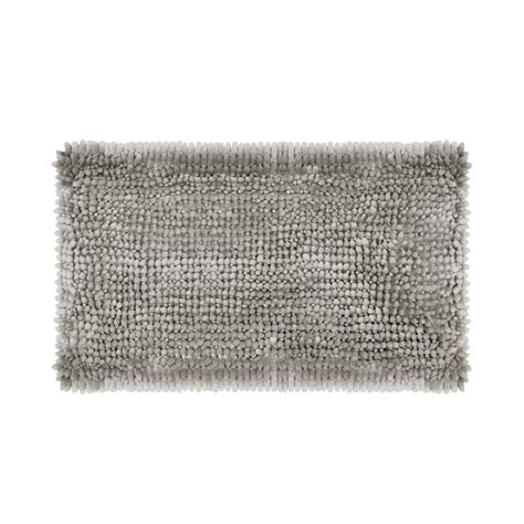 27 X 45 Bath Rug Butter Chenille 27 In X 45 In Bath Mat In Light Gray Laymb006495 The Home Depot