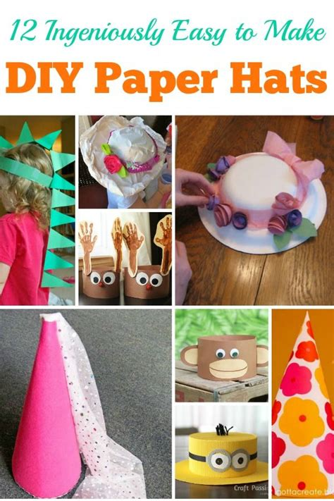 How To Make Easy Paper Hats - best 25 hat crafts ideas on