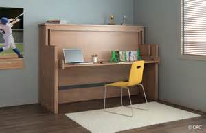 Murphy Bed Converts To Table Org Home Desk Bed Uninterrupted Transition From Desk To Bed