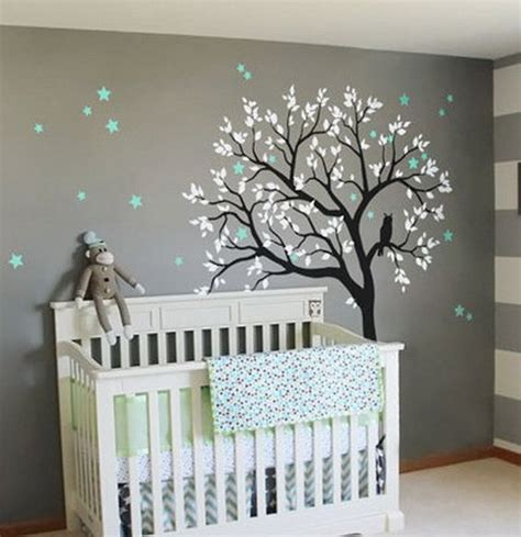 Large Owl Hoot Star Tree Kids Nursery Decor Wall Decals Baby Nursery Wall Decor Ideas