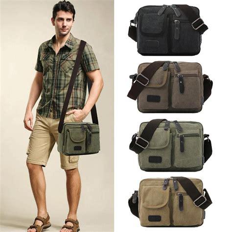 Zip Mini Shoulder Bag style unisex canvas shoulder bag zip pocket