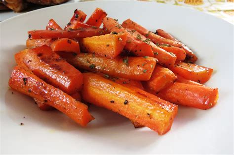 honey glazed roasted carrots peanut butter and peppers