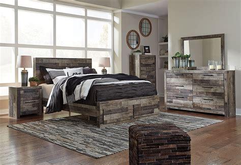 derekson storage bedroom set benchcraft furniture cart