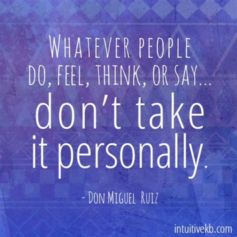 Taking It Personally by Dont Take It Personally Intuitive Kb