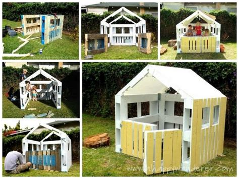 how to build own house wooden pallet kids playhouse plans recycled things