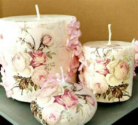 How To Decoupage A Candle - 1000 images about candles on tissue paper