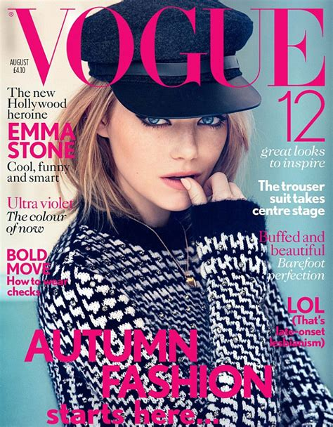 emma stone vogue cover emma stone my crippling web of insecurities make me worry