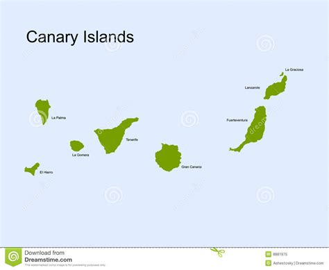 us islands vector map canary islands vector map royalty free stock photo image