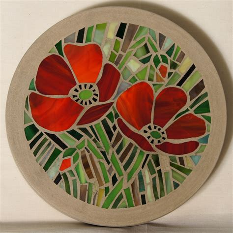 pattern for mosaic stepping stones patterns for moasic stepping stones poppy mosaic