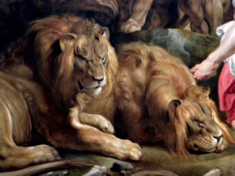 daniel in the lions den c 1614 1616 detail sir