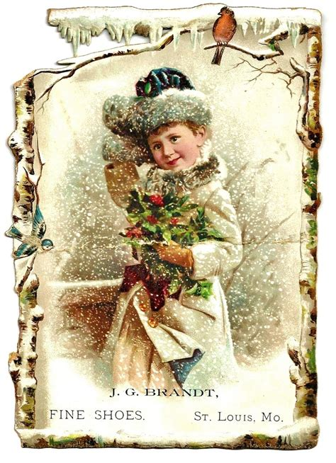 images of victorian christmas cards large c1890 victorian girl and christmas holly advertising