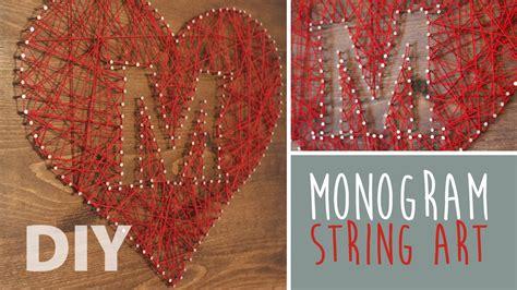 diy24h diy monogram string artsypaints