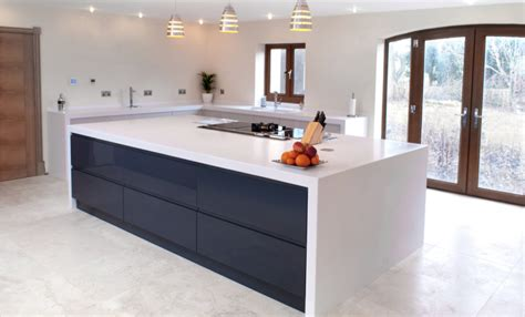 Corian Kitchen by Glacier White Corian 174 Kitchen By Morpeth Kitchen Company
