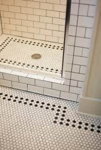 bathroom floor and wall tile ideas white bathroom with black and white mosaic tiles