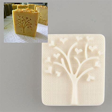 heart tree design handmade yellow resin soap stamp